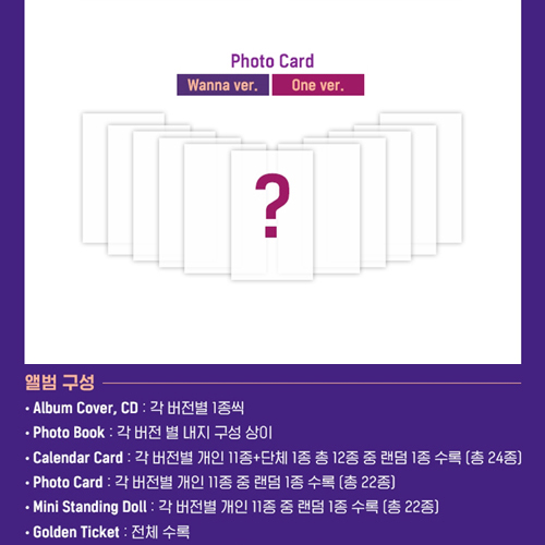 Wanna One - 1-1=0 (Nothing without you) [To Be One Prequel Repackage/ONE Ver.]